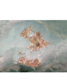 Cherubs wallpaper fresco